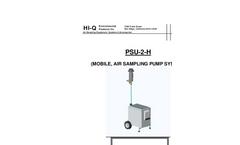 Model PSU-2-H - Mobile, Air Sampling Pump System - Operation Manual