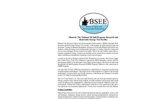 Ohmsett: The National Oil Spill Response Research and Renewable Energy Test Facility Brochure