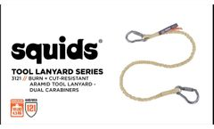 Tether Tools for Work Around Flames or Sparks with Squids® 3121 Burn + Cut-Resistant Aramid Lanyard - Video