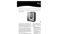FAAST - Model LT - Loop Based Aspirating System - Technical Datasheet