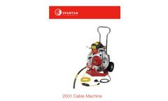 Spartan - 2001 - Drain Cleaning Machines - Brochure