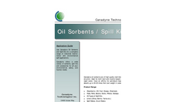 Canadyne - Oil Sorbents and Spill Kits Brochure