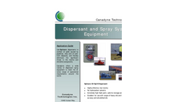 Canadyne - Oil Spill Dispersant Equipment Brochure