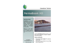 Canadyne PermaBoom - HD - Vertical Membrane Constructed of Heavy-Duty PVC-Coated Polyester Belting Brochure