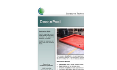 Canadyne DeconPool - Open Topped Pool With Inflatable Sides Brochure