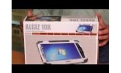 Handheld ALGIZ 10X Rugged Tablet - What`s in the Box? Video