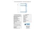 Heavy Duty Type III Turbidity Curtain - Specification Sheet