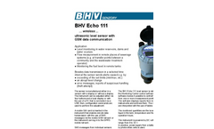 BHV - Echo 111 - Ultrasonic Level Meter - Brochure