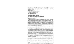 Bird-Shock-Flex-Track-Electric Shock Bird Control System Specifications