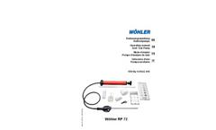 Model RP 72 - Soot Test Pump Brochure