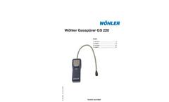 Model GS 220 - Gas Sniffer- Brochure