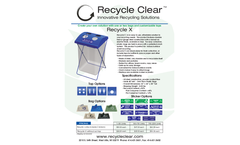 Recycle Clear - Model X - Waste Management - Datasheet