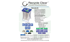 Recycle Clear - Model X2 - Waste Management - Datasheet