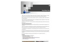 EFLO Grey - Grey Water Recycling Technical Data