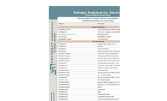 Analytical Laboratory Services Brochure