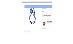 Protekt - Model P-01 - Safety Harness - Datasheet