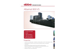 Albamat - Model 800 V5 - Fully Automatic Vertical Channel Baling Presses System - Brochure