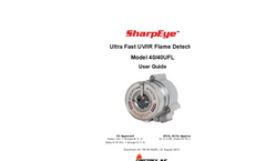 SharpEye - Model 40/40UFL Ultra Fast UV/IR - High-Speed Optical Flame Detector- Manual