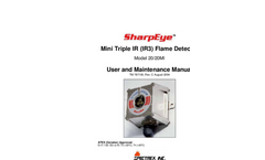 SharpEye - Model 20/20MI - Mini Triple IR (IR3) - Flame Detector - Manual