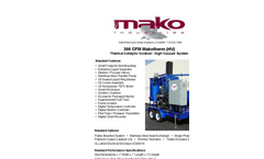 Makotherm 300 CFM Thermal Catalytic Oxidizer/High Vacuum System Spec Sheet