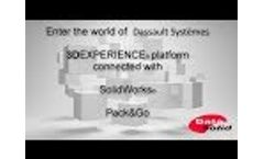 3D Experience Platform Connected with SolidWorks : Pack & Go Video