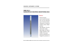 Model SMM 500, 2000 and 6000 X - Subsurface Mooring Monitoring Beacons Brochure