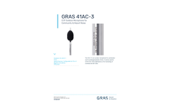 GRAS - Model 41AC-3 CCP - Outdoor Microphone for Community & Airport Noise - Datasheet