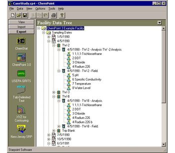 ChemPoint - Version Professional 7.0 - Environmental Data Management for Windows