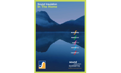 Sound Insulation in the Home - Brochure