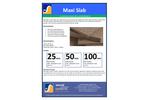 SRS - Model Maxislab - Cavity Absorber for Walls - Brochure