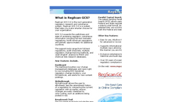 RegScan One Platform- Regulatory Research and Compliance System Software Brochure