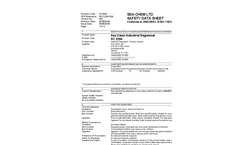 Sea Clean Industrial Degreaser MSDS