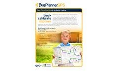 BusPlanner - GPS Tracking & Analysis Software - Brochure