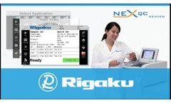 Rigaku NEX QC SERIES of Benchtop EDXRF Analyzers - Video