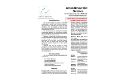 Applied Groundwater Statistics Brochure and Registration Form