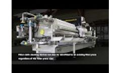 MSE Automatic Filter Press - Filter Cloth Cleaning Device Video