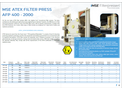 Product features MSE ATEX filter press