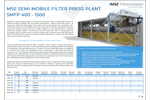 Product features MSE semi-mobile filter press plant - Brochure