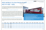 Product features MSE mobile filter press plant - Brochure