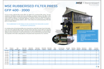 Product features MSE rubberized filter press - Brochure
