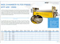 Product features MSE chamber filter press