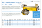 Product features MSE chamber filter press - Brochure