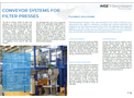 Products Catalog MSE conveyor systems for filter presses