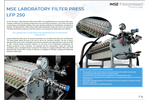 Product features MSE laboratory filter press - Brochure