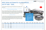 Product features MSE semi-automatic filter press - Brochure
