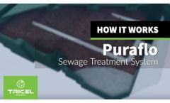 How a Puraflo Sewage Treatment System Works - Video