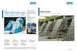 Aqua-Screen - Water Treatment Equipment, Perforated Plate Fine Screen - Brochure