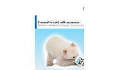 CremaViva - Cold Milk Separator - Brochure