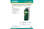 Extech - Model 407119 - Heavy Duty CFM Hot Wire Thermo-Anemometer - Datasheet