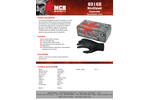 MCR NitriShield Grippaz™ - Model 6016B - Disposable Nitrile Gloves, Powder-Free, 6 mil, Black, 5 Boxes / 100/Each - Brochure